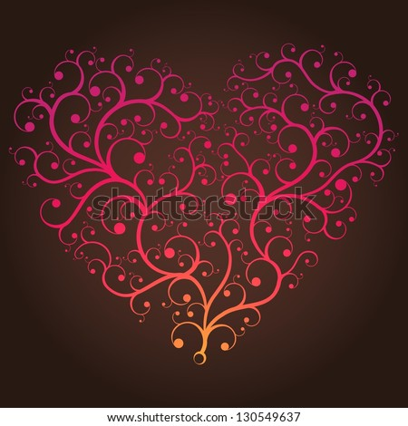 Colorful heart - stock vector