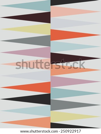 Colorful horizontal triangles pattern - vector illustration - stock vector
