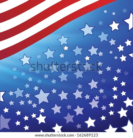 colorful illustration with  american flag for your design - stock vector