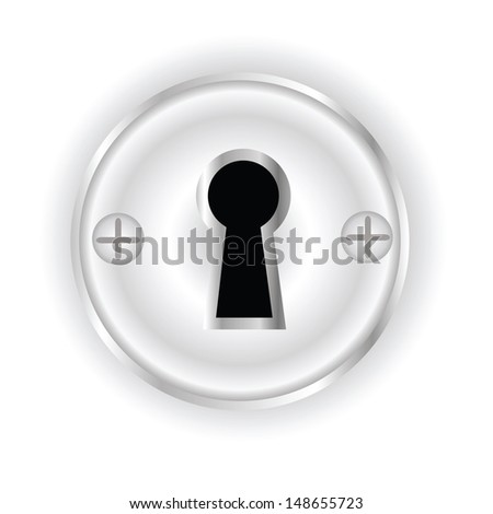 colorful illustration with key hole for your design - stock vector