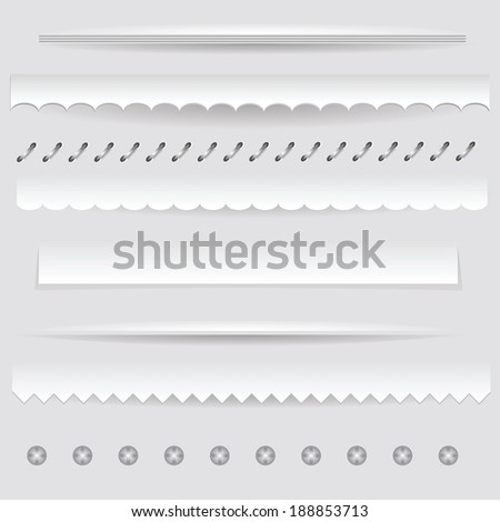 colorful illustration with  set of dividers on a gray background for your design - stock vector