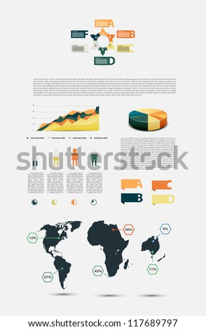 Colorful infographic. - stock vector