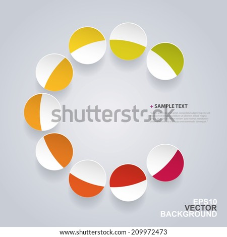 Colorful Infographic Template or Base - stock vector