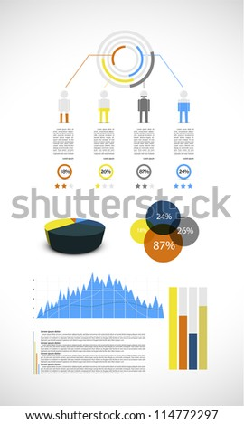 Colorful infographic, vector illustration - stock vector