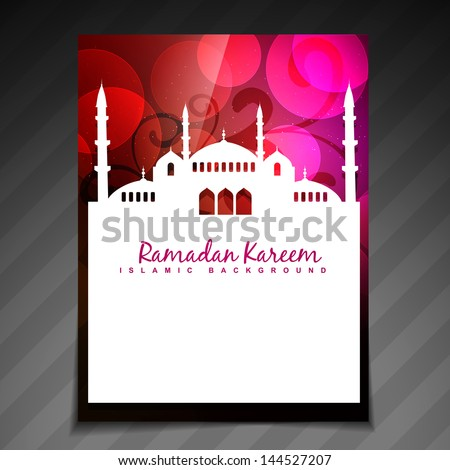 colorful islamic festival ramadan template design - stock vector