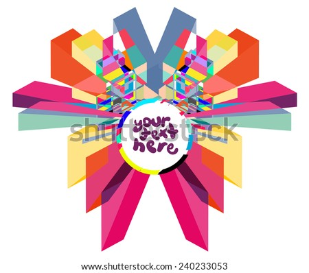 Colorful Label for text - stock vector