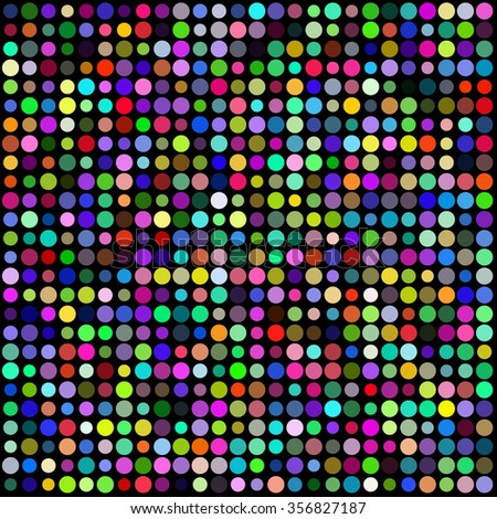 colorful lighting dots background - stock vector