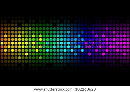 Colorful lights - vector abstract background - stock vector