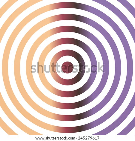 Colorful metallic background design with concentric circles - stock vector