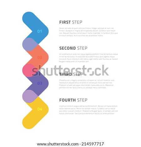 Colorful Modern Arrow Step by Step Infographics / EPS10 Vector Illustration /  - stock vector