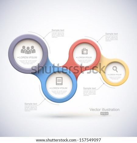 Colorful modern business circles. - stock vector