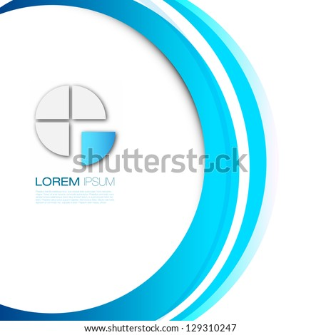 Colorful Modern Business Design Layout | EPS10 Editable Background - stock vector