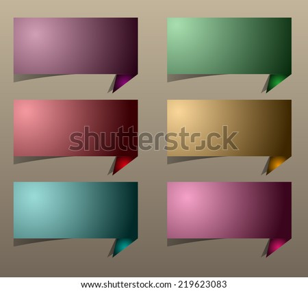 colorful modern speech bubble text box template for website computer graphic and internet, numbers. label.  - stock vector