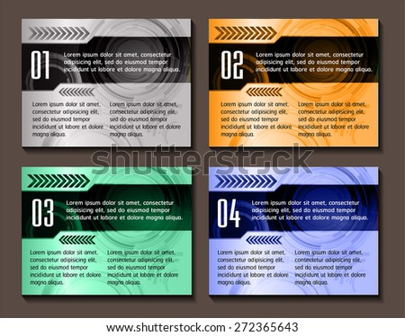 colorful modern text box template for website computer graphic business and internet, numbers. label. card. banner label Leaflet brochure flyer magazine ad. paper. poster. artwork. object. publishing. - stock vector