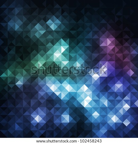 Colorful mosaic banner, vector eps10 illustration - stock vector
