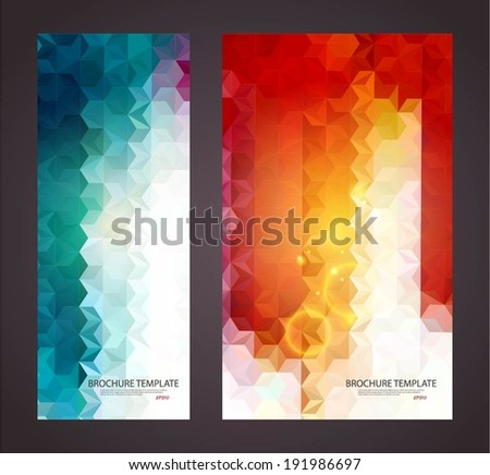 Colorful mosaic banner. Vector illustration for your business presentations. EPS10.  - stock vector