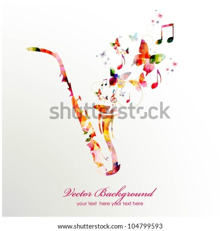Colorful music background. Vector - stock vector