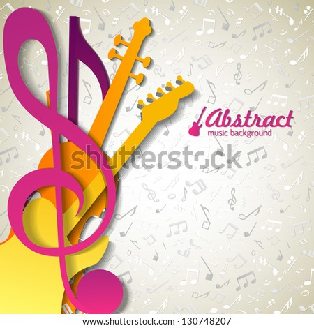 Colorful music background. Vector Illustration, eps10, contains transparencies. - stock vector