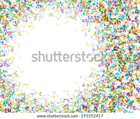 Colorful music notes vector background eps 10  - stock vector