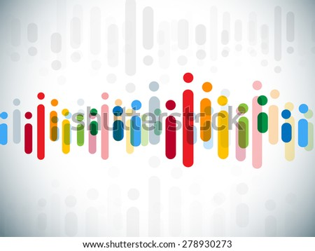 Colorful network - stock vector