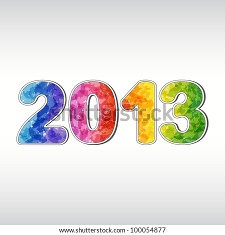 Colorful New year 2013. EPS10 - stock vector