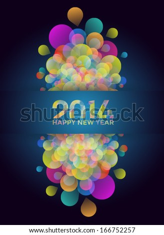Colorful 2014 New Years Abstract Background  - stock vector