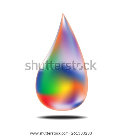 Colorful of water drop, vector illustration - stock vector