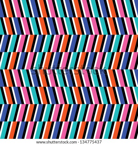 Colorful Optical Illusion Background - stock vector