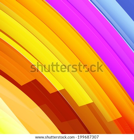 Colorful orange and yellow striped abstract background. Vector Illustration EPS10. - stock vector