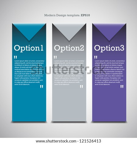 Colorful Origami Style Number Options Banner Modern Design for you website. vector - stock vector