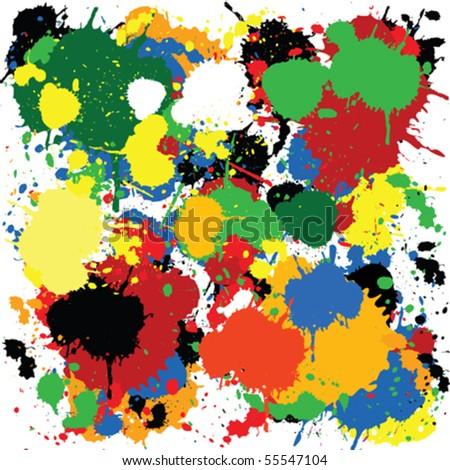 Colorful paint splash design - stock vector
