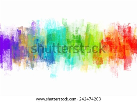 Colorful paint splashes - stock vector