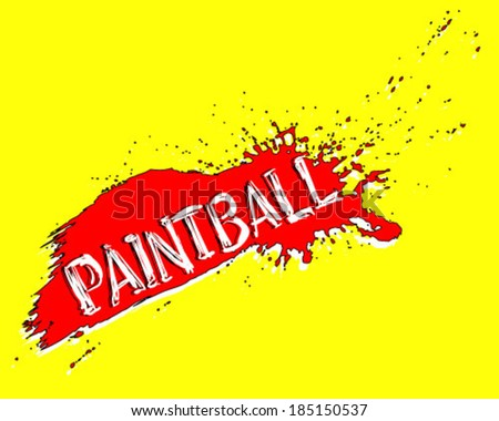 Colorful paintball banner. Eps 10  - stock vector
