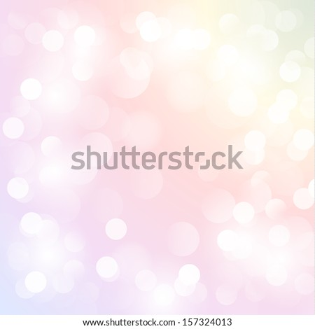Colorful pastel background with defocused lights - eps10 - stock vector