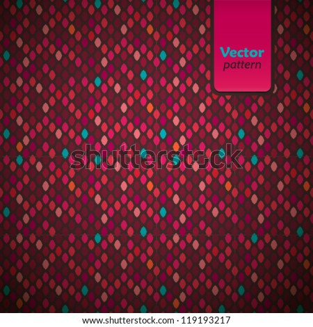 Colorful pattern illustration. Vector background. - stock vector