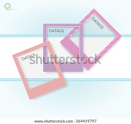 Colorful Photo Frames Layout Illustration for Your Design  - stock vector