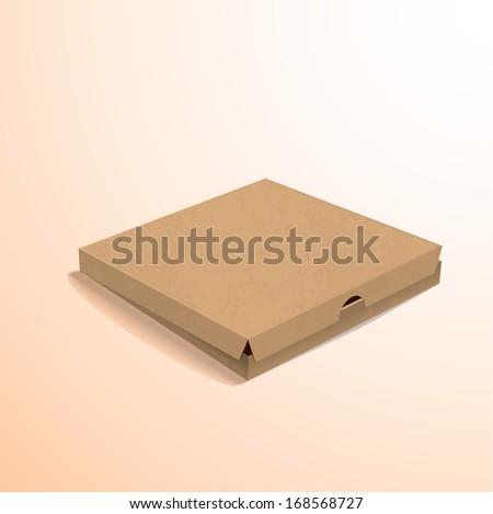colorful pizza cloze box - stock vector
