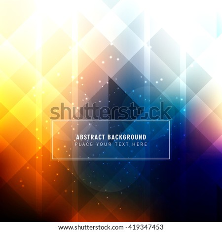 Colorful polygon background - stock vector