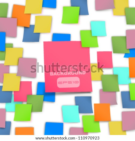 colorful Post it abstract background. vector design - stock vector