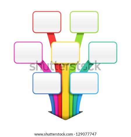 Colorful presentation or design template. Vector. - stock vector