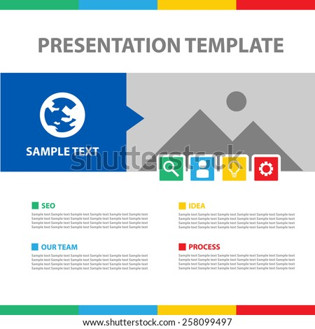 Colorful Presentation Template - stock vector