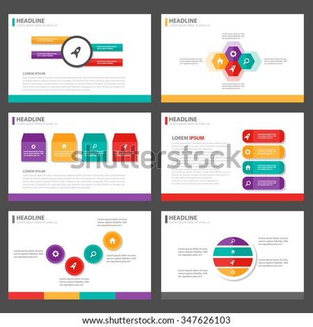 colorful presentation template, Presentation templates