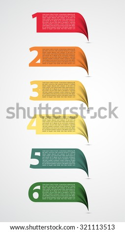 Colorful presentations with numbers - stock vector