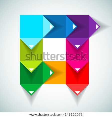 Colorful Process chart module - Vector illustration - stock vector