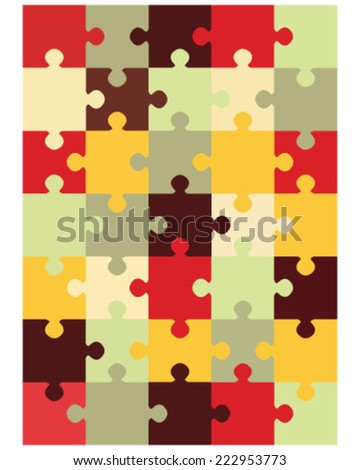 Colorful puzzle, vector illustration - stock vector