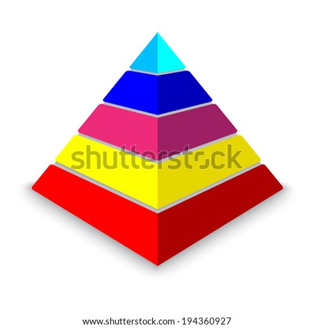 Colorful pyramid - stock vector