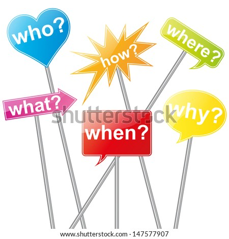 Colorful Question Sign - stock vector