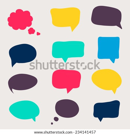 Colorful questions speech bubbles. Eps 10 vector file. - stock vector