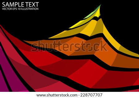 Colorful rainbow abstract background illustration - Colorful vector curved background template - stock vector