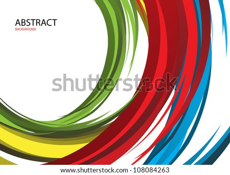Colorful rainbow background. Clip-art - stock vector